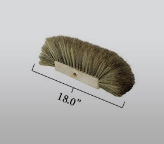 "18"" All Around Tri- Ple Hogshair Screw in Brush"
